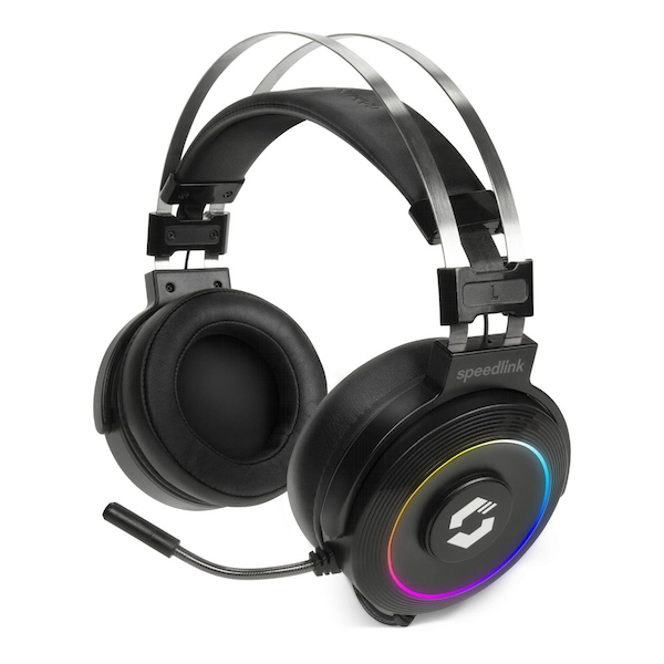Speedlink Orios RGB 7.1 PC Gaming Headset with Flexible Microphone RGB Lighting USB-A Connector 2.2m Cable