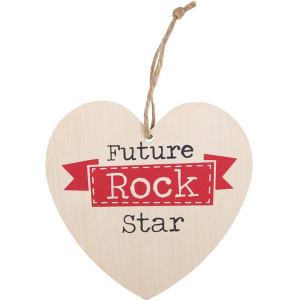 Future Rock Star Hanging Heart Sign