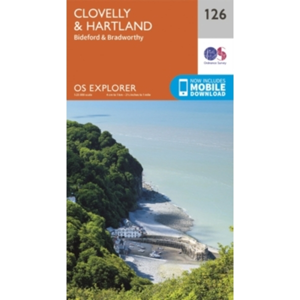 Clovelly and Hartland by Ordnance Survey (Sheet map, folded, 2015)