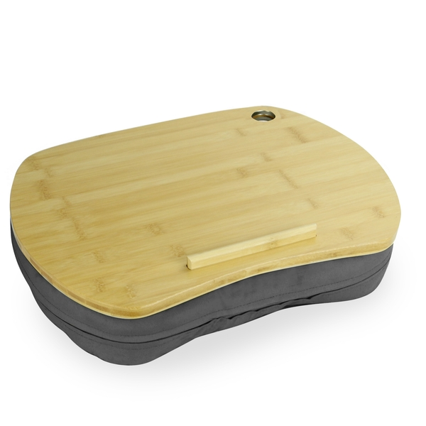 Bamboo Cushioned Laptop Tray   M&W