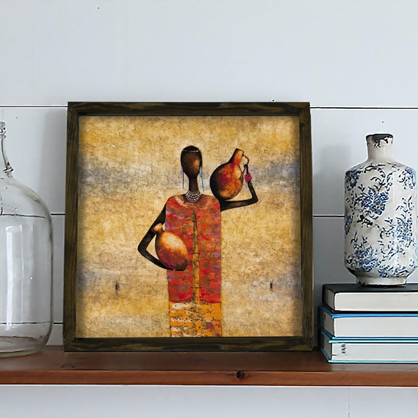 KZM584 Multicolor Decorative Framed MDF Painting