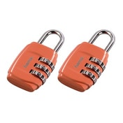 Hama Combination Luggage Padlock, set of 2, orange