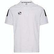 Sondico Venata Polo Shirt Youth 9-10 (MB) White/White/Black