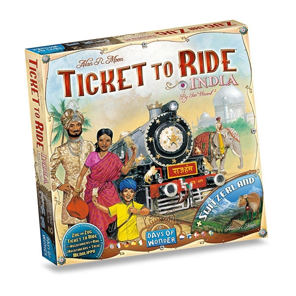 Ticket To Ride India + Switzerland Board Game