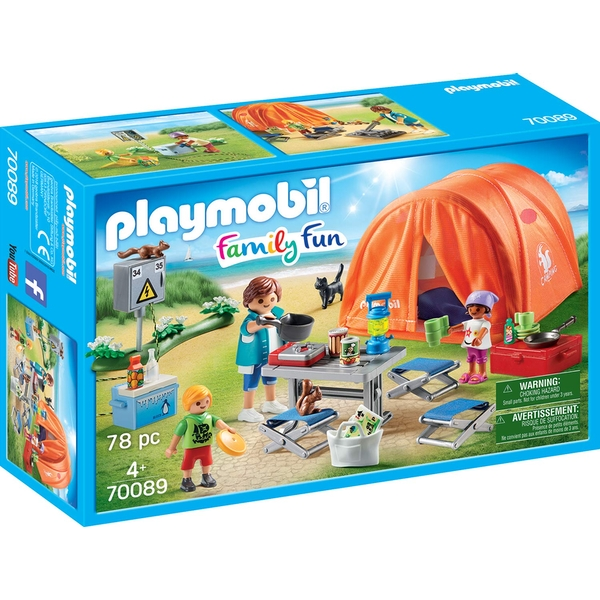 Playmobil Family Fun Toy Tent with Camping Accessories - Image 1