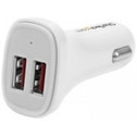 StarTech Dual-Port USB Car Charger 24W/4.8A - White