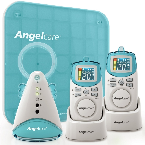 Angelcare AC401 Deluxe Movement & Sound Baby Monitor (UK Plug)