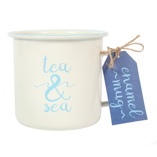 Tea & Sea Enamel Mug