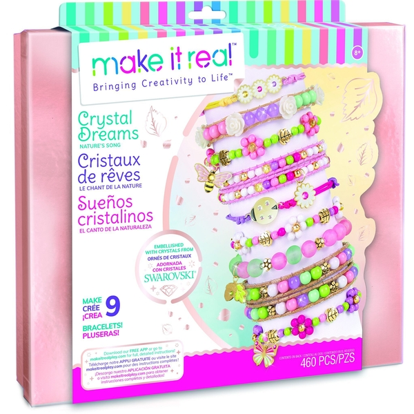 Make It Real Crystal Dreams Nature's Tale Jewellery Activity Set