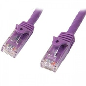 StarTech Cat5e Ethernet Patch Cable with Snagless RJ45 Connectors 7 m Purple
