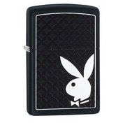 Zippo Playboy Bunny and Border Black Matte Finish