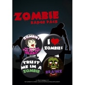 Zombie 4 Badge Pack
