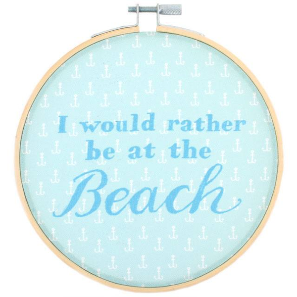 I Would Rather Be At The Beach Hoop
