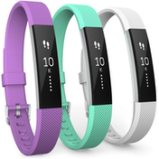 Yousave Fitbit Alta / Alta HR Strap 3-Pack Small - Violet/Mint Green/White