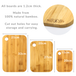 Bamboo Chopping Board - Set of 3 | M&W - Image 7