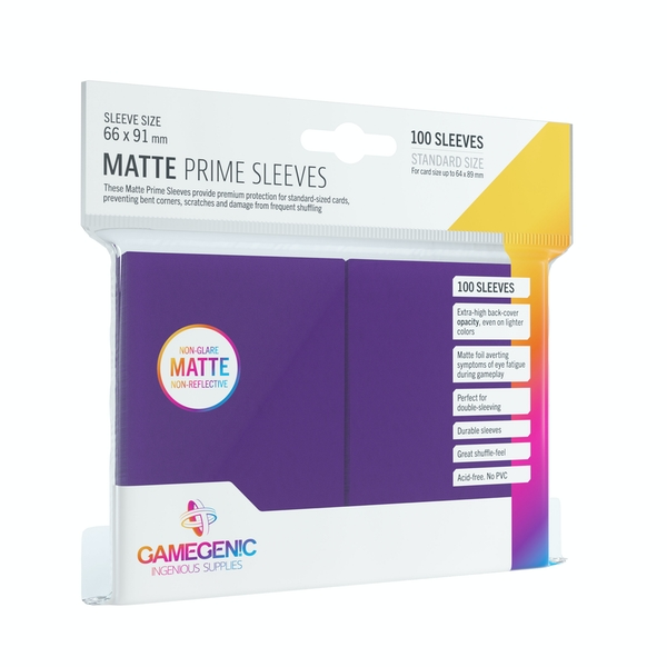 Gamegenic Matte Prime 100 Sleeves Purple