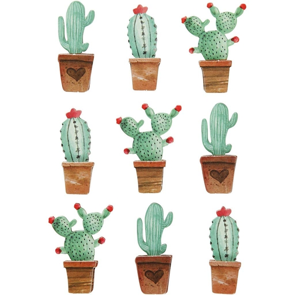 Cactuses 3D Stickers