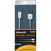 Infapower P043 Micro USB to USB Cable 2M White