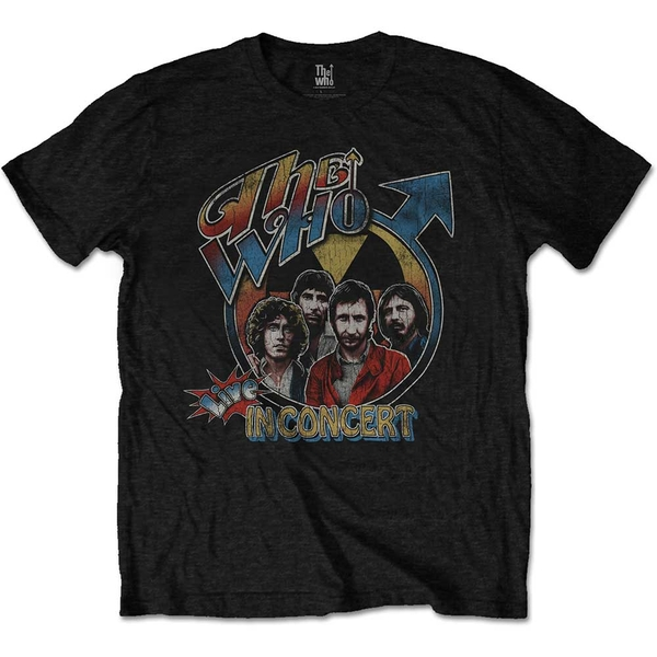 The Who - Live in Concert Unisex Large T-Shirt - Black