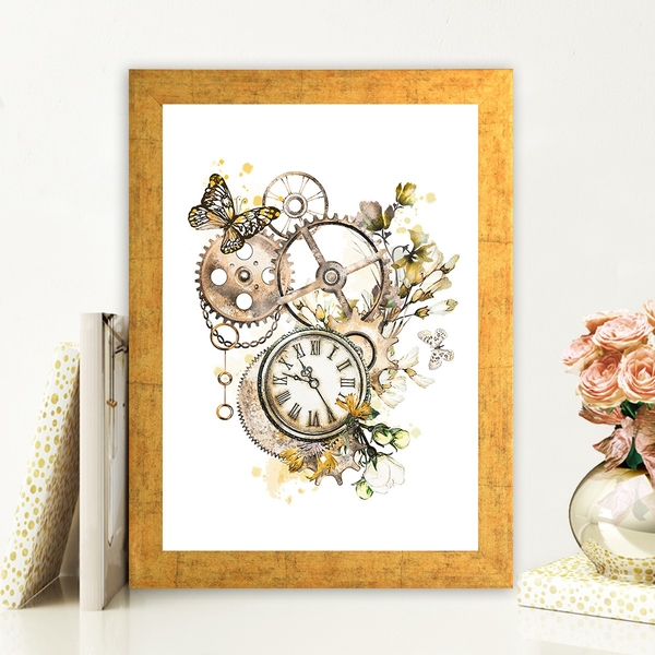 AC727038406 Multicolor Decorative Framed MDF Painting