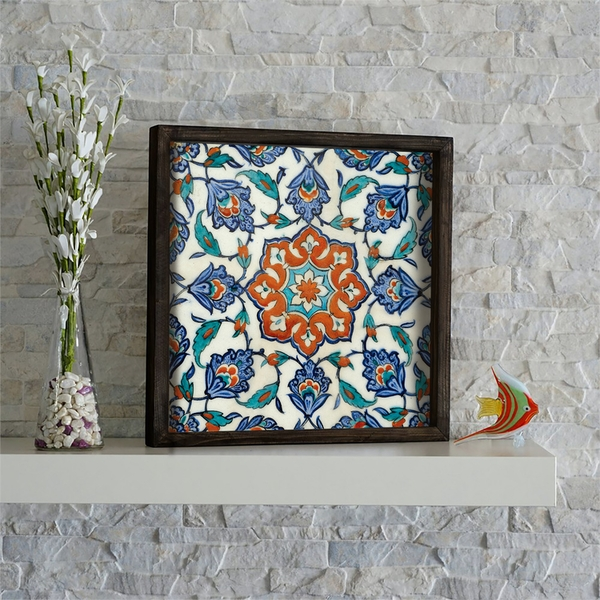 KZM550 Multicolor Decorative Framed MDF Painting