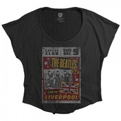 The Beatles Live in Liverpool Ladies Black T-Shirt Small