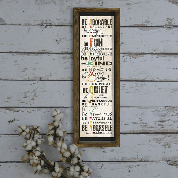 KZM417 Multicolor Decorative Framed MDF Painting