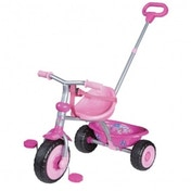Kidzamo Trike With Push/Steer Handle Pink Flower