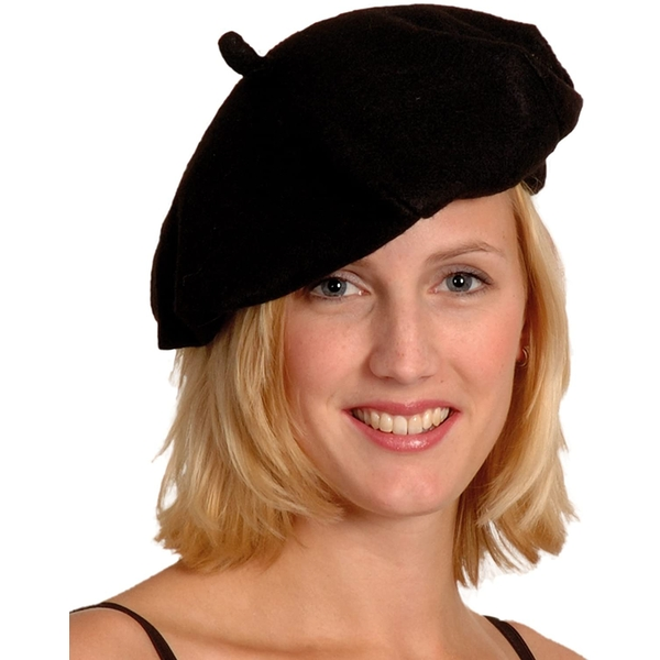Black French Beret Fancy Dress