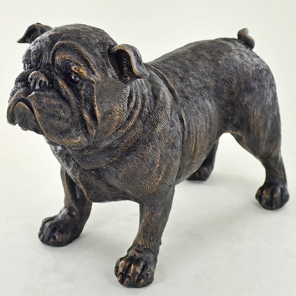 Bronze Bulldog Cold Cast Bronze Sculpture