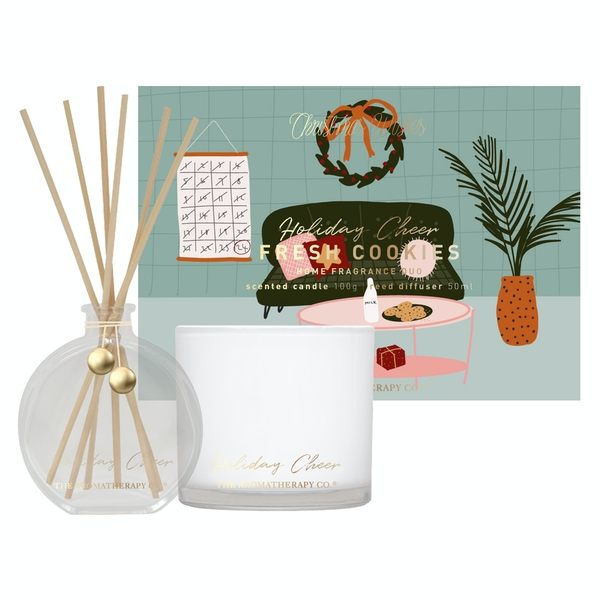 Holiday Cheer 50ml Diffuser & 100g Candle Set Fresh Cookies
