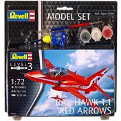 Red Arrow BA Hawk T.1 (Aircraft) Revell 1:72 Level 3 Model Set