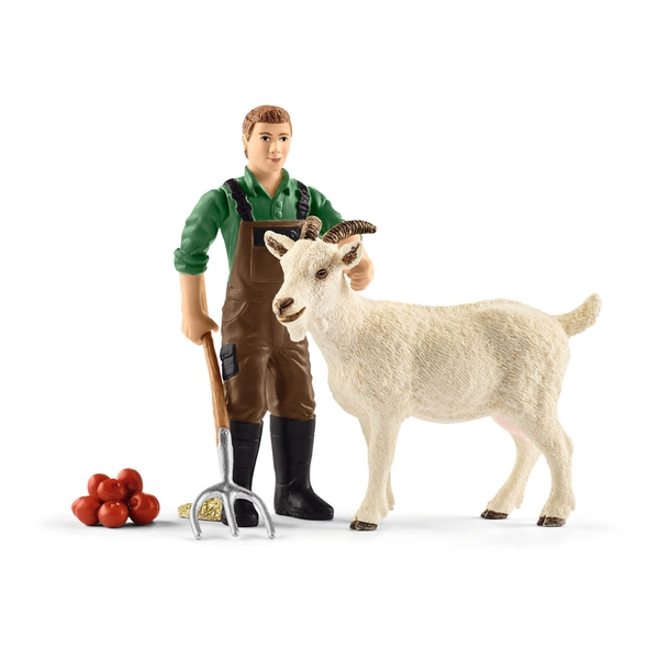 Schleich Farm World Farmer with Goat and Accessories