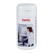 Hama Screen Cleaning Cloths, 100 pcs, in Dispenser Tub