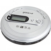 Ex-Display Groov-e GVPS210 Retro Series Personal CD Player with Radio Silver Used - Like New