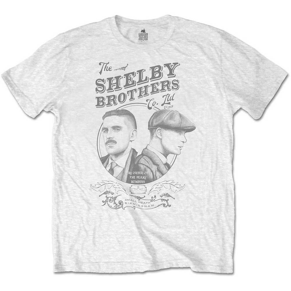 Peaky Blinders - Shelby Brothers Circle Faces Men's Small T-Shirt - White