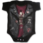 Baby Biker Baby Small Sleepsuit - Black