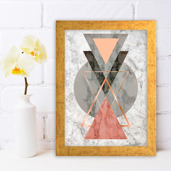 AC733913971 Multicolor Decorative Framed MDF Painting