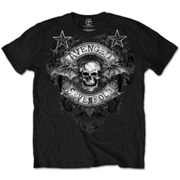 Avenged Sevenfold Stars Flourish Mens Black T-Shirt: X Large