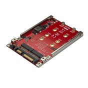 StarTech Dual-Slot M.2 Drive to SATA Adapter for 2.5 inch Drive Bay - RAID
