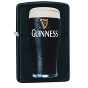 Zippo Guinness Pint Black Matte Finish Windproof Lighter
