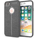 iPhone 8 Auto Camera Focus Leather Effect Gel Case - Grey