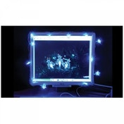 Snow White USB Powered 20 Snowflake LED Lights Clear Blue