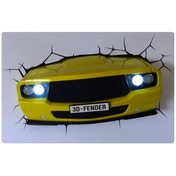 Muscle Car Yellow 3D Deco Light by 3D Light FX