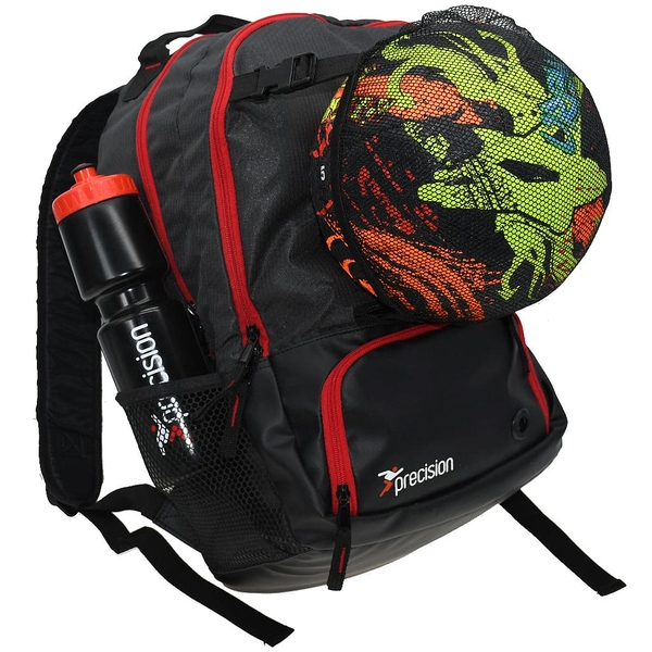 Precision Pro HX Back Pack with Ball Holder Charcoal - Black/Red
