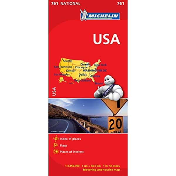 USA - Michelin National Map 761 Map Sheet map 2012