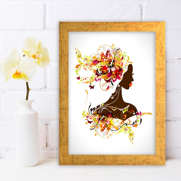 AC83300854 Multicolor Decorative Framed MDF Painting