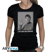 Star Trek - Spock Women's X-Large T-Shirt - Black