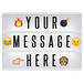 A4 Lightbox with 205 Letters & Emoji | Pukkr - Image 3