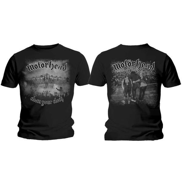 Motorhead - Clean Your Clock B&W Unisex Medium T-Shirt - Black